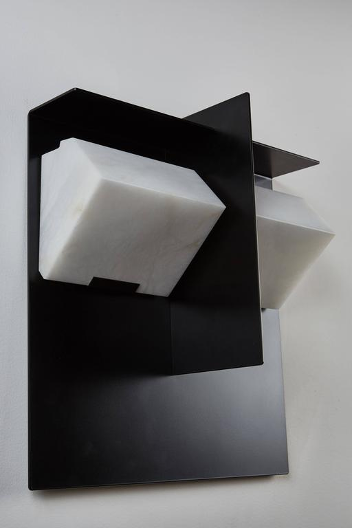 "Contemporary ""Mask"" Wall Lamp by Pierre Chareau Model SMA 119 A For Sale"