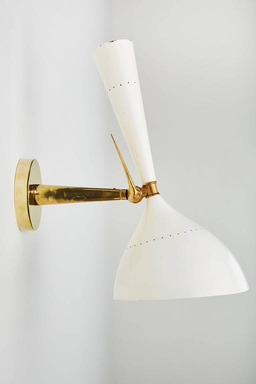 Italian Articulating Sconce by Stilnovo For Sale