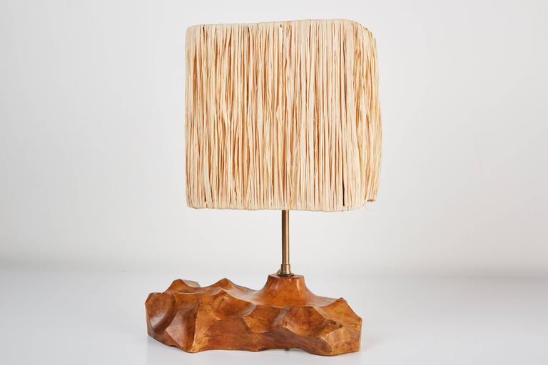 Pair of French Sculpted Wood Table Lamps In Good Condition For Sale In Los Angeles, CA