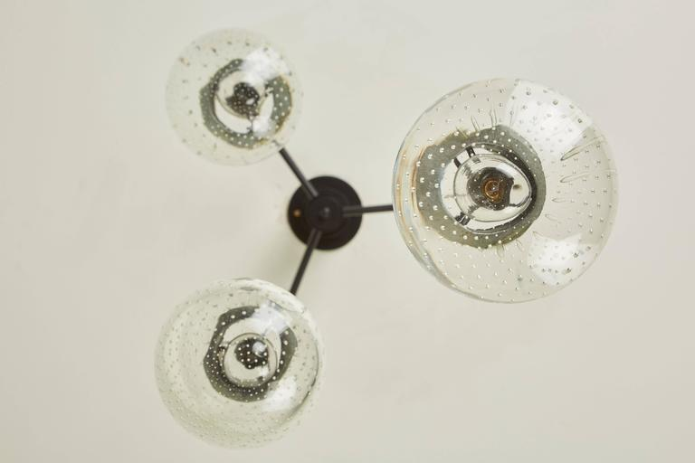 Three Globe Chandelier by Gino Sarfatti for Arteluce 4