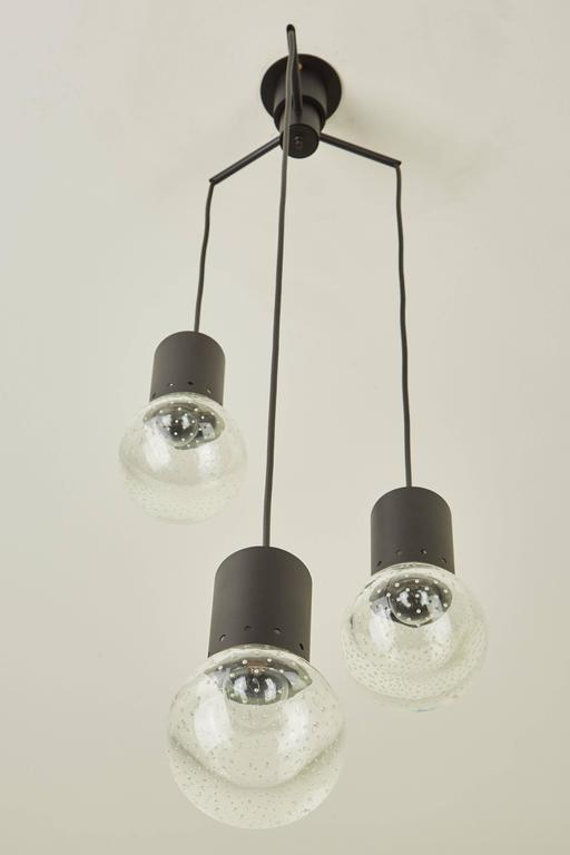 Three Globe Chandelier by Gino Sarfatti for Arteluce 3