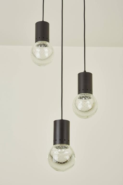 Three Globe Chandelier by Gino Sarfatti for Arteluce 6