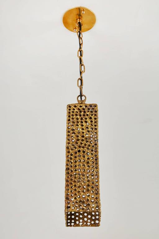 Mid-Century Modern Rare Brass Pendant by Pierre Forsell for Skultana For Sale