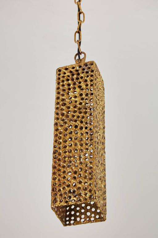 Rare Brass Pendant by Pierre Forsell for Skultana In Excellent Condition For Sale In Los Angeles, CA