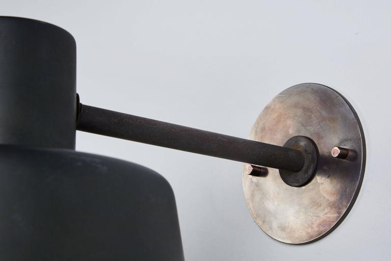 Pair of Model 1006 A Patinated Copper Exterior Sconces by Hans Bergström 6