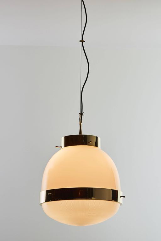 Brass and Glass Pendant by Sergio Mazza for Artemide  3