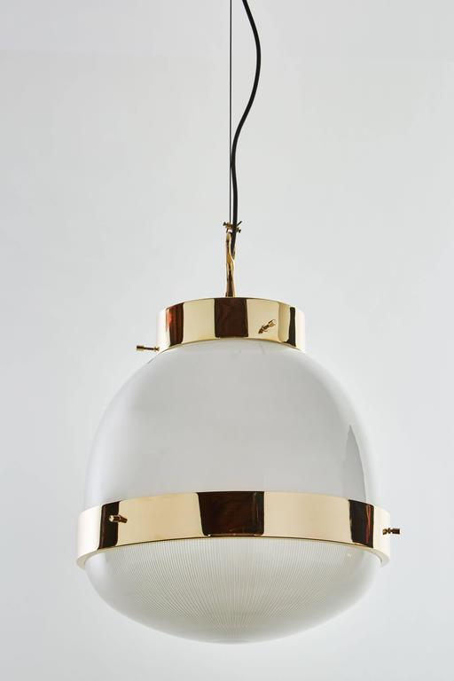 Brass and Glass Pendant by Sergio Mazza for Artemide  4