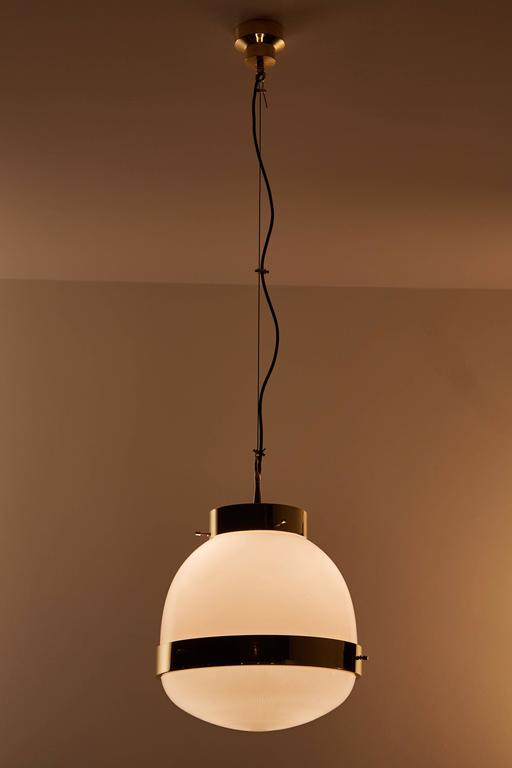 Brass and Glass Pendant by Sergio Mazza for Artemide  2