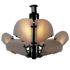 Quarte De Rond Ceiling Light by Pierre Chareau