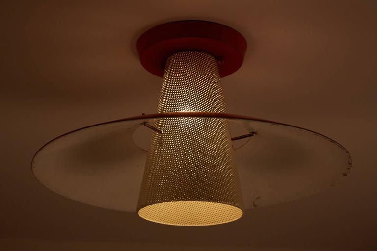 Flush Mount Ceiling Light By Gerald Thurston For