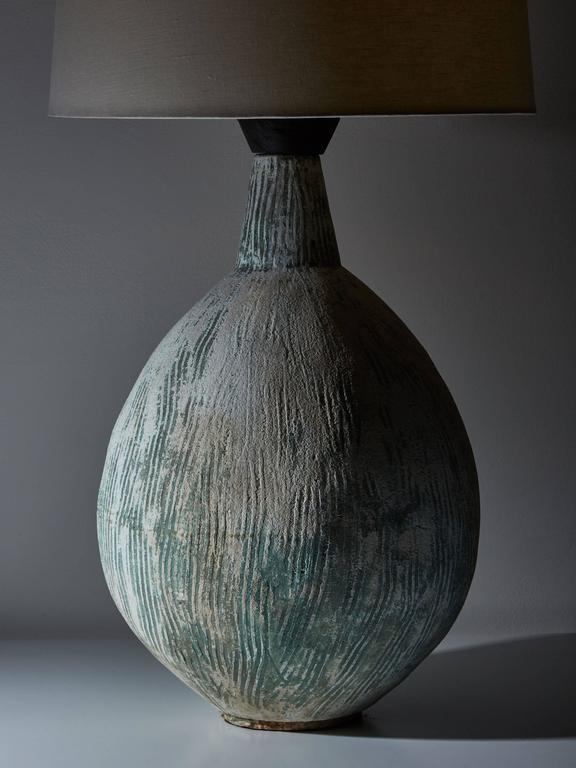 Custom handmade cement table lamp for sale at 1stdibs - Handmade table lamp ...