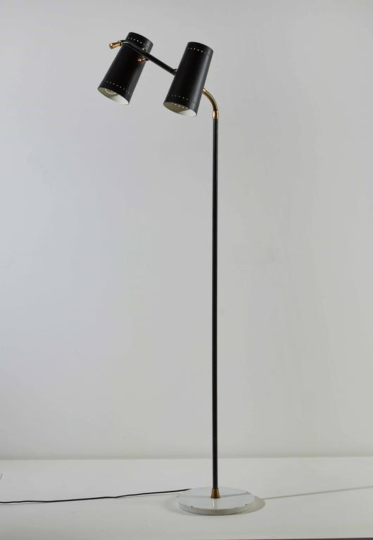 Mid-20th Century Double Shade Floor Lamp by Stilux For Sale