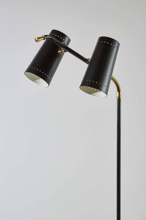 Double Shade Floor Lamp by Stilux For Sale 1