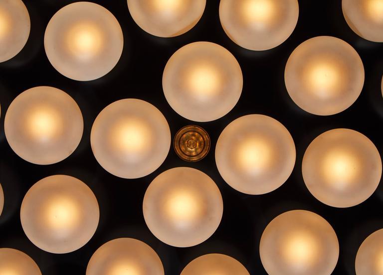 Monumental Thirty Globe Italian Flush Mount Ceiling Light 10