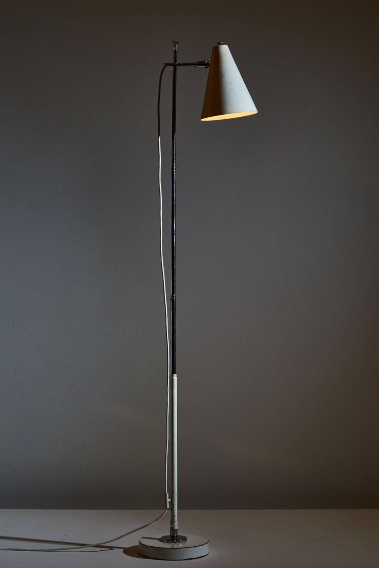 Linen Floor/Table Lamp by Giuseppe Ostuni for Oluce For Sale