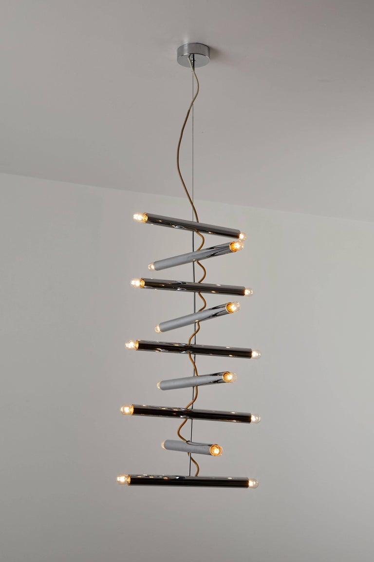 Italian Rare Chandelier by Pia Guidetti Crippa for Lumi For Sale