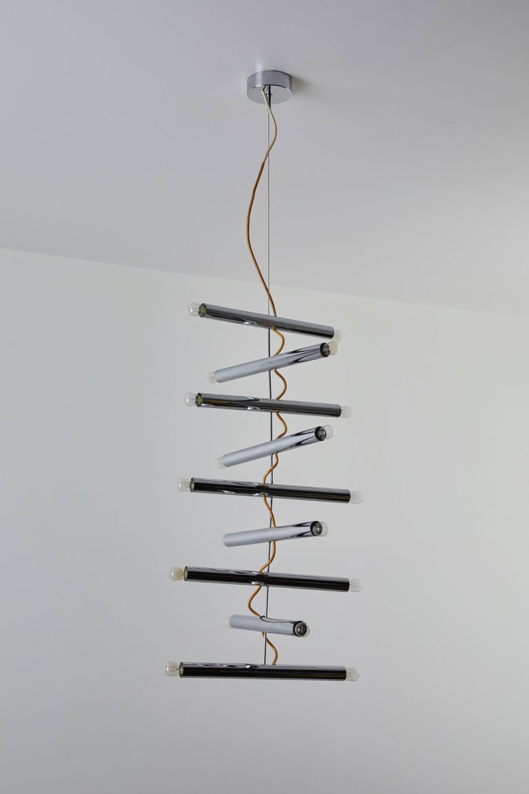 Rare Chandelier by Pia Guidetti Crippa for Lumi In Excellent Condition For Sale In Los Angeles, CA