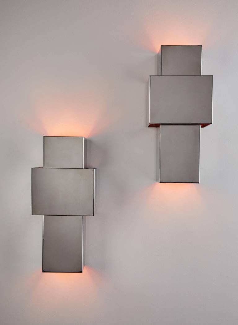 "Pair of ""Love"" Sconces by Willy Rizzo for Italia 2"