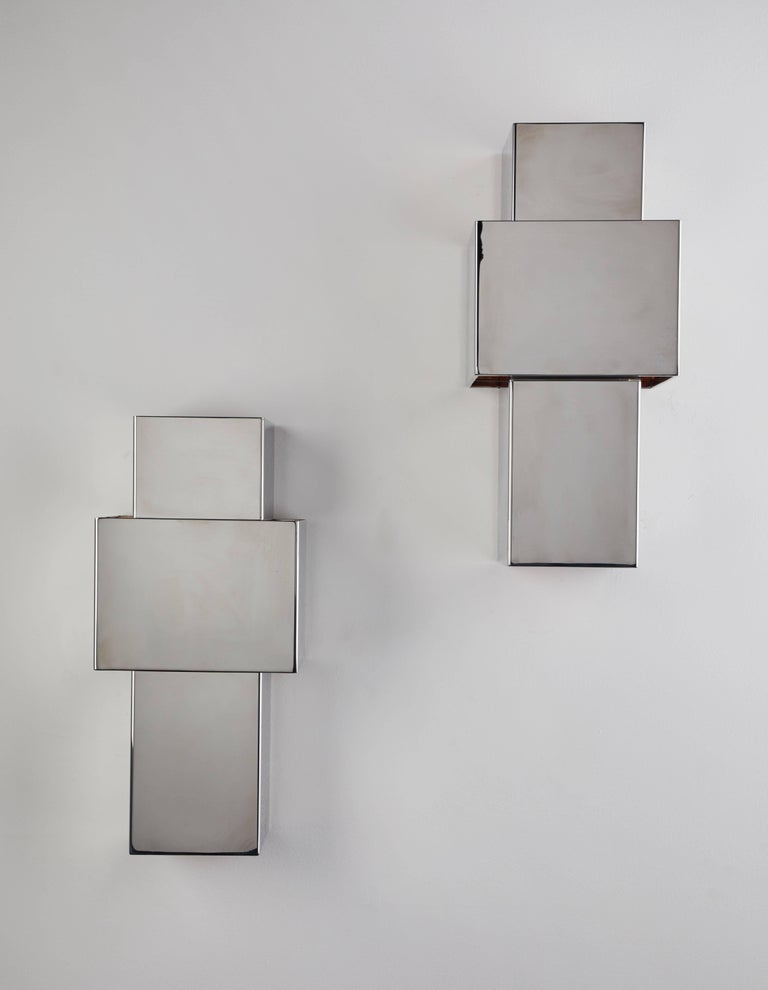 "Pair of ""Love"" Sconces by Willy Rizzo for Italia 4"