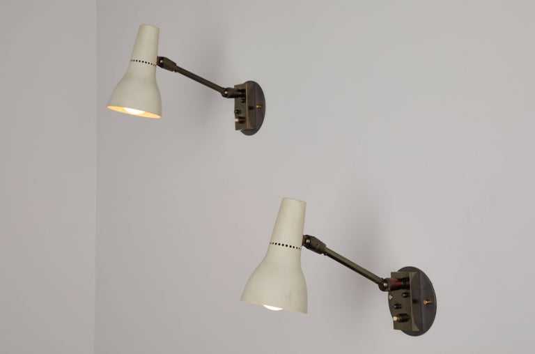 Pair of Sconces by Giuseppe Ostuni for Oluce 4