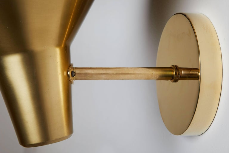 Pair of Brass Sconces by Hans Bergström for Atelje Lyktan For Sale 1