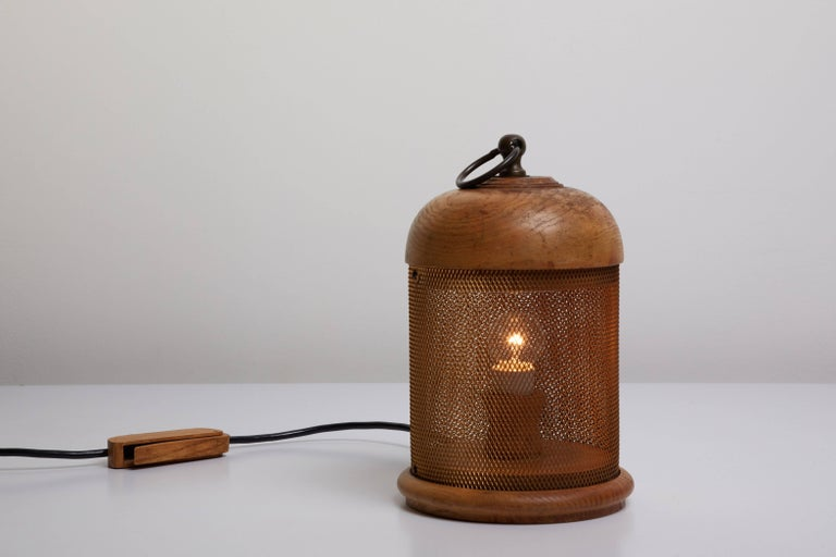 Wooden Table Lamp by G. Bartolucci 3