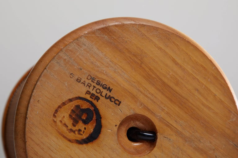 Wooden Table Lamp by G. Bartolucci 6