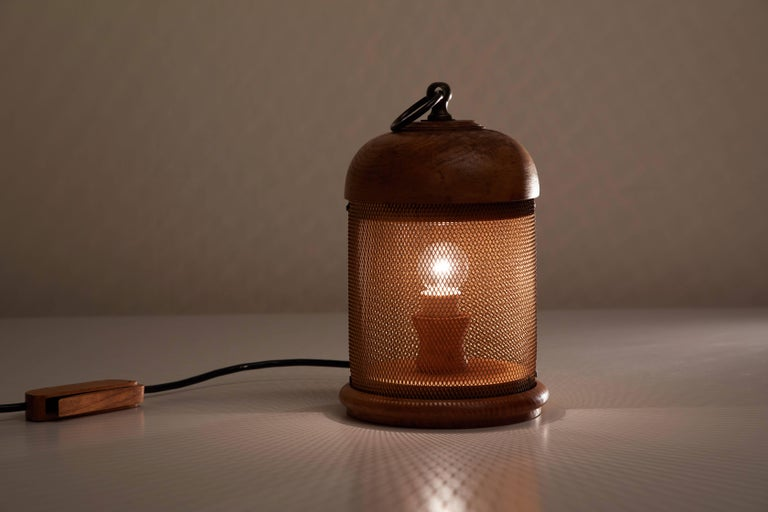 Wooden Table Lamp by G. Bartolucci 2