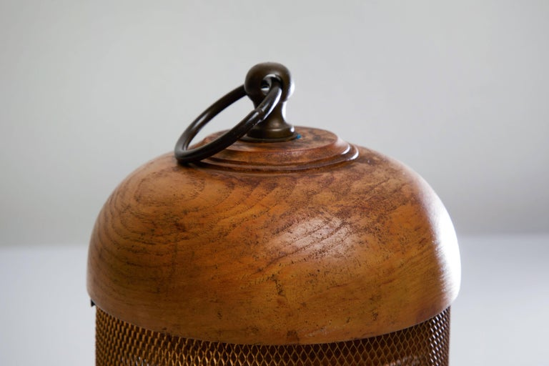 Italian Wooden Table Lamp by G. Bartolucci For Sale