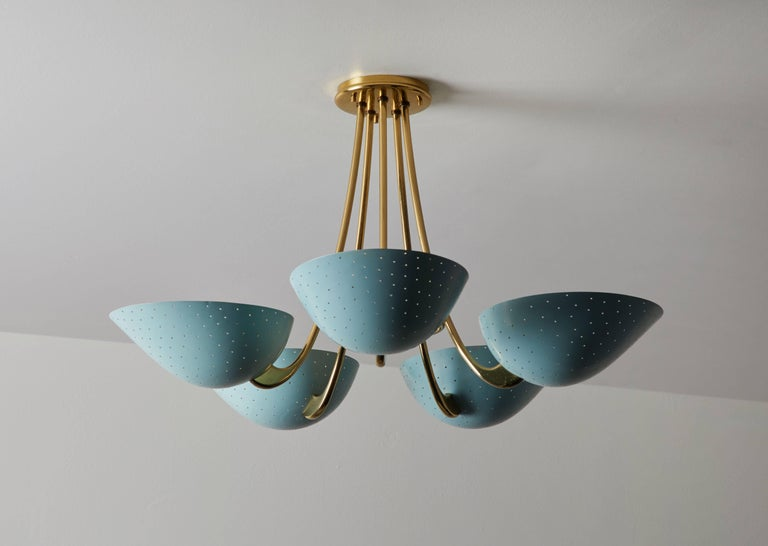 Mid-Century Modern Rare Swiss Chandelier by Bag-Turgi For Sale