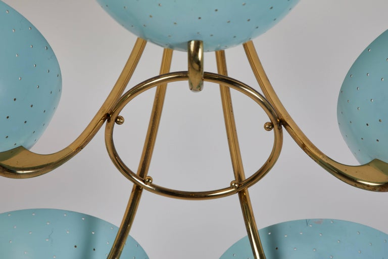 Mid-20th Century Rare Swiss Chandelier by Bag-Turgi For Sale