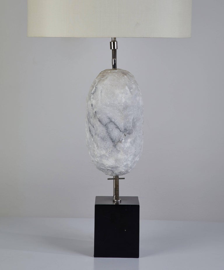 American Pair of Quartz Specimen Table Lamps by Laurel For Sale