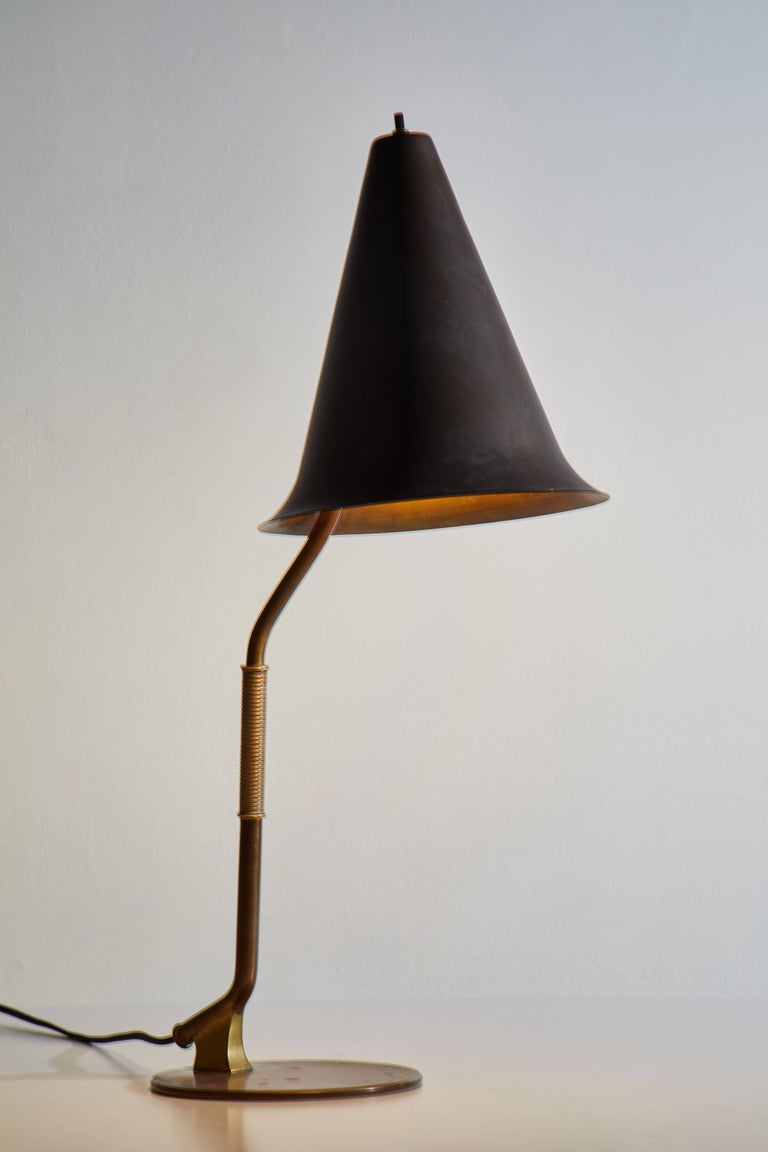Rare And Important Swedish Table Lamp For Sale At 1stdibs Rewiring A Designed In Sweden Circa 1940s Rewired With Black French