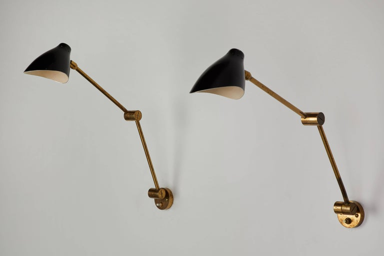 Italian Pair of Wall Lights by Angelo Lelli for Arredoluce For Sale