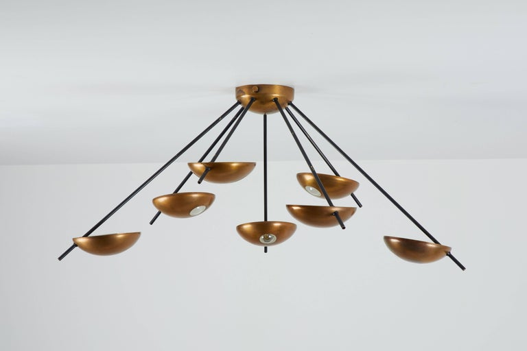 Model 1036 Wall or Ceiling Light by Stilnovo In Excellent Condition For Sale In Los Angeles, CA