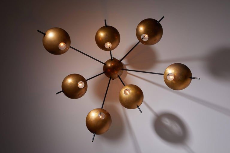 Mid-Century Modern Model 1036 Wall or Ceiling Light by Stilnovo For Sale