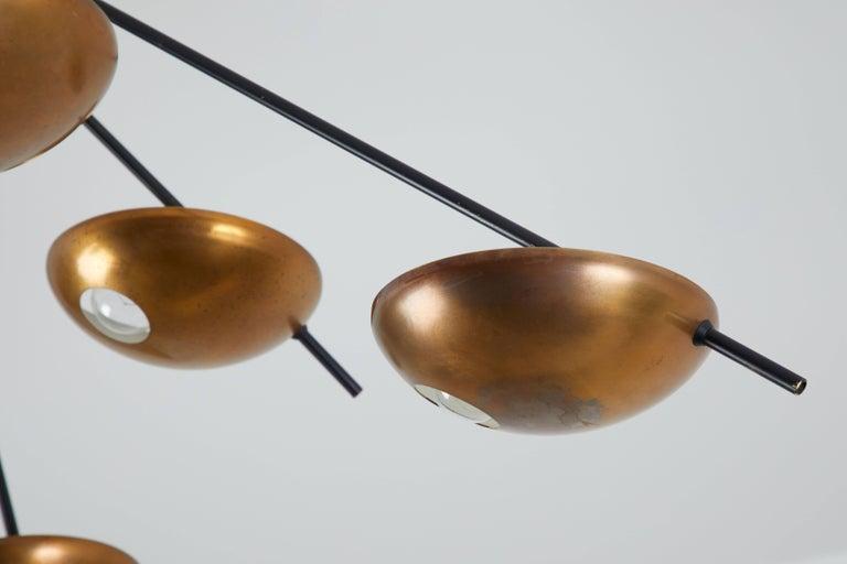 Brass Model 1036 Wall or Ceiling Light by Stilnovo For Sale