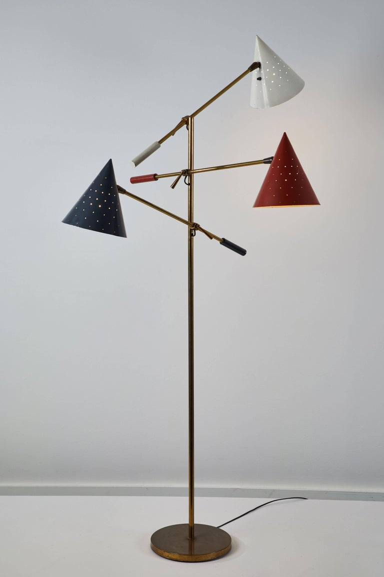 American Rare Triennale Floor Lamp by Lightolier For Sale