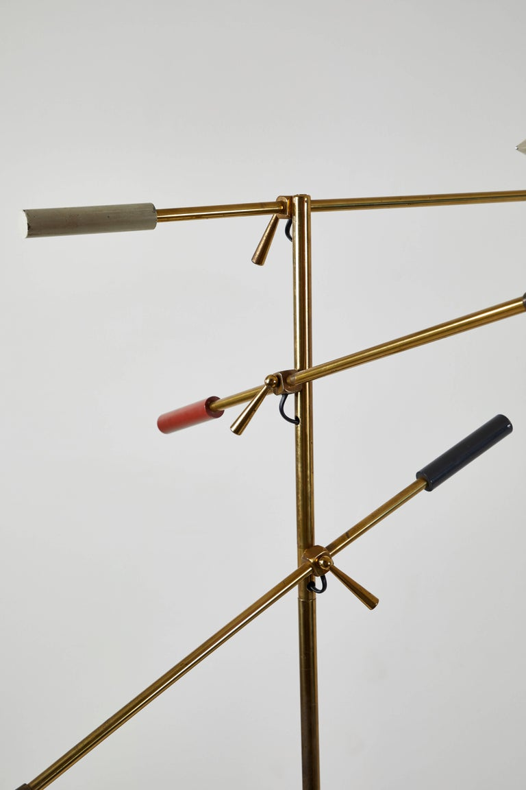 Rare Triennale Floor Lamp by Lightolier For Sale 1