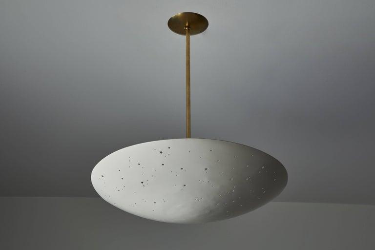 Powder-Coated Italian Pendant Light For Sale