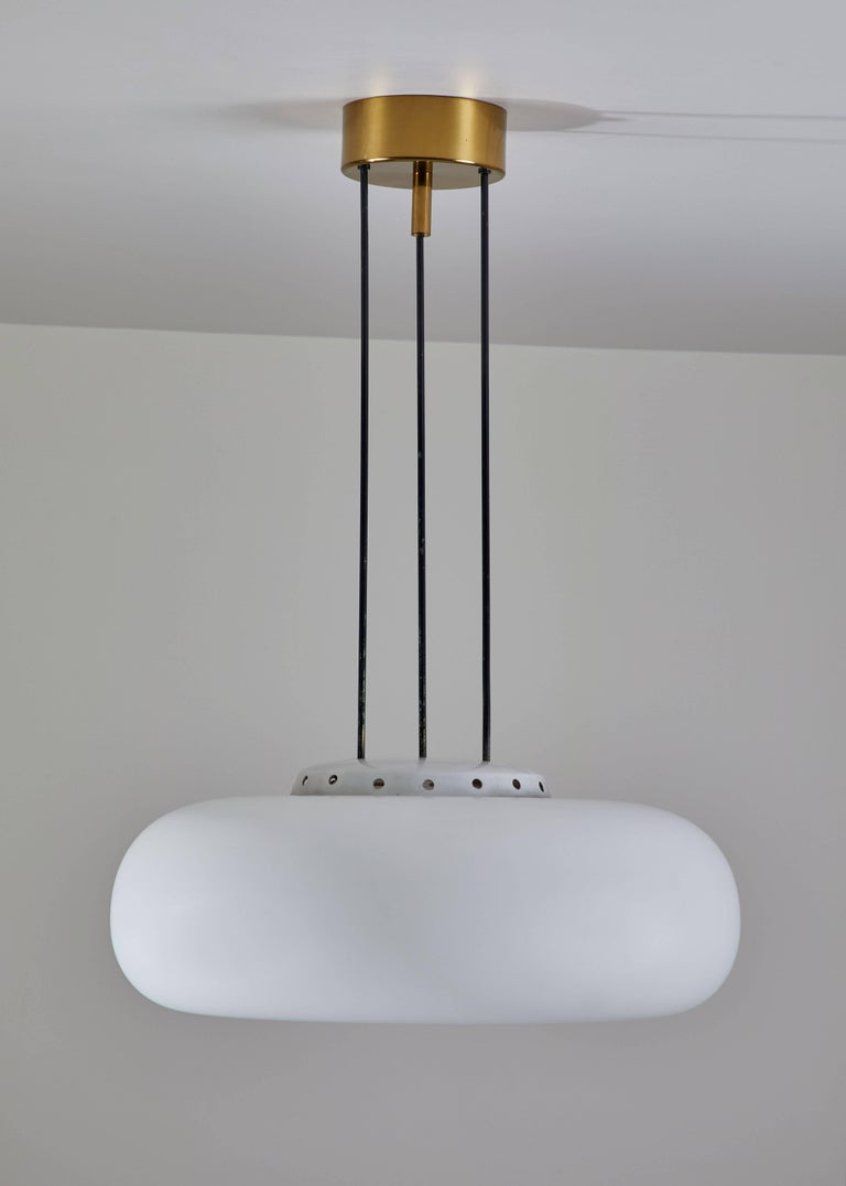 Model 2356 Suspension Light by Fontana Arte In Good Condition For Sale In Los Angeles, CA