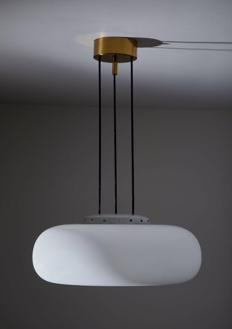 Mid-Century Modern Model 2356 Suspension Light by Fontana Arte For Sale