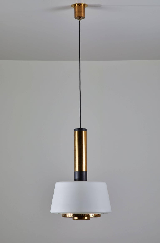Italian Two Pendants by Stilnovo For Sale
