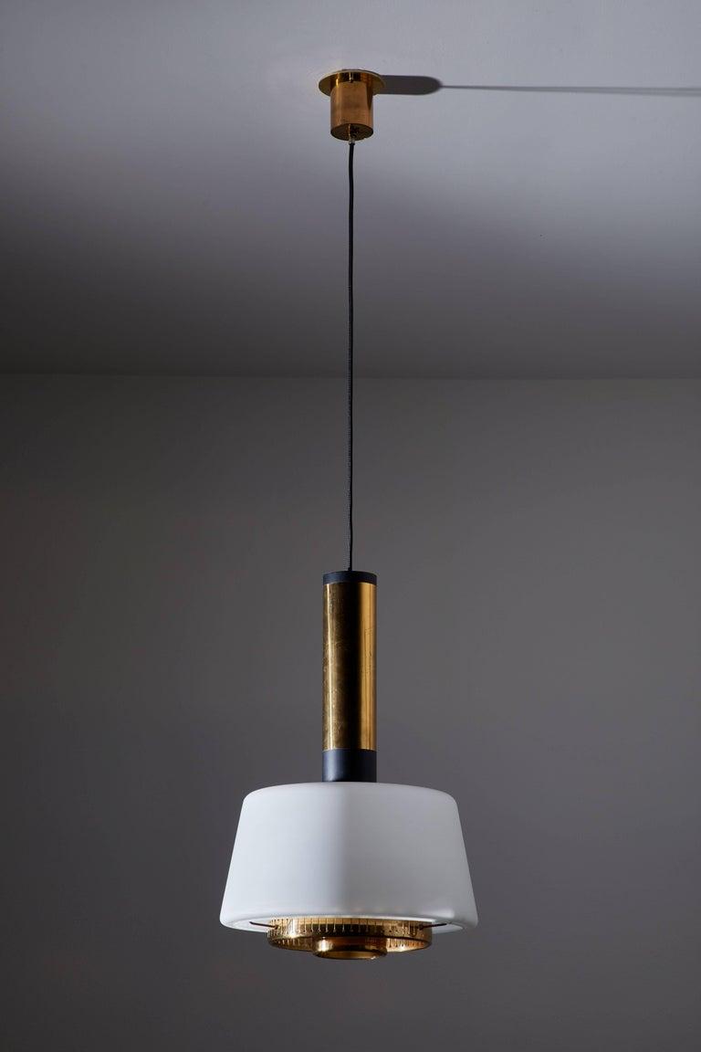Mid-Century Modern Two Pendants by Stilnovo For Sale