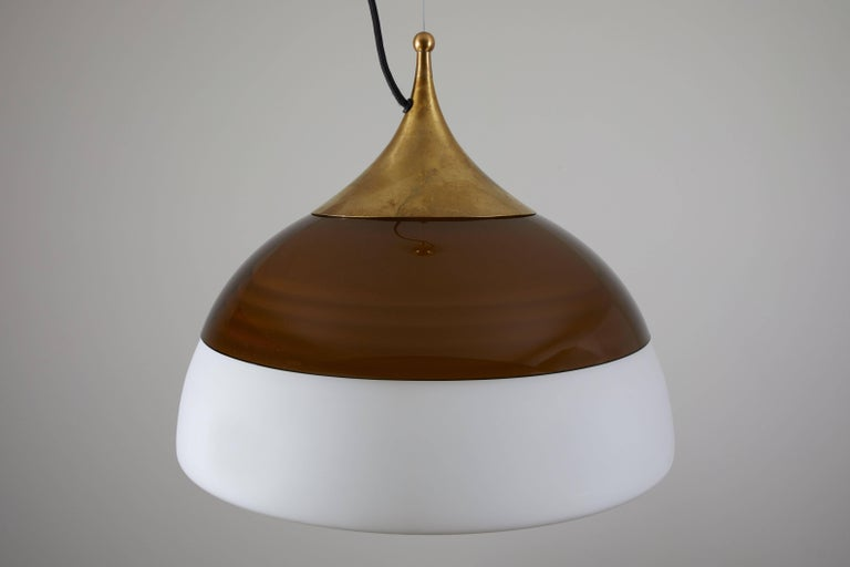 Italian Two Suspension Lights by Stilnovo For Sale