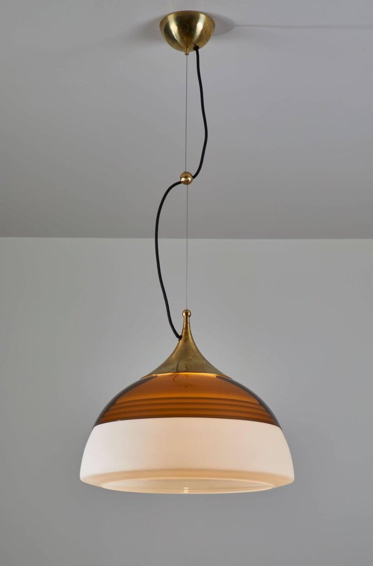 Mid-Century Modern Two Suspension Lights by Stilnovo For Sale