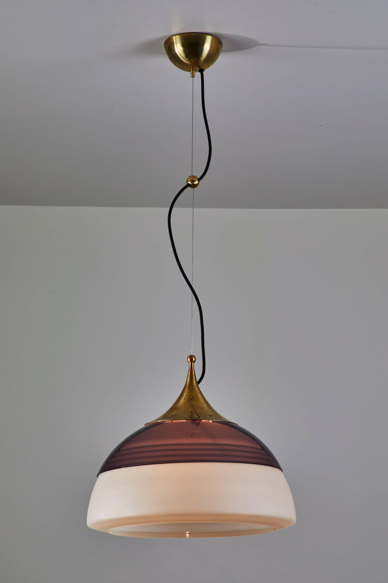 Mid-Century Modern Two Suspension Lights by Stilnovo For Sale