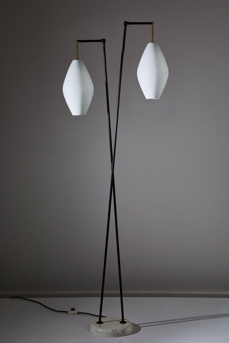 Mid-Century Modern Floor Lamp by Stilnovo For Sale