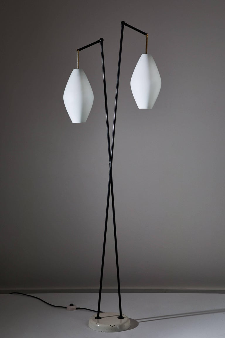 Italian Floor Lamp by Stilnovo For Sale
