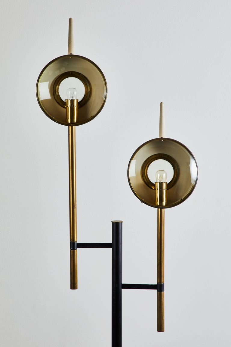 Enameled Rare Floor Lamp in the style of Angelo Lelli for Arredoluce For Sale